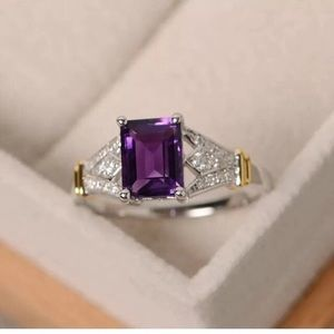 Gorgeous 925 Silver Filled Amethyst Ring